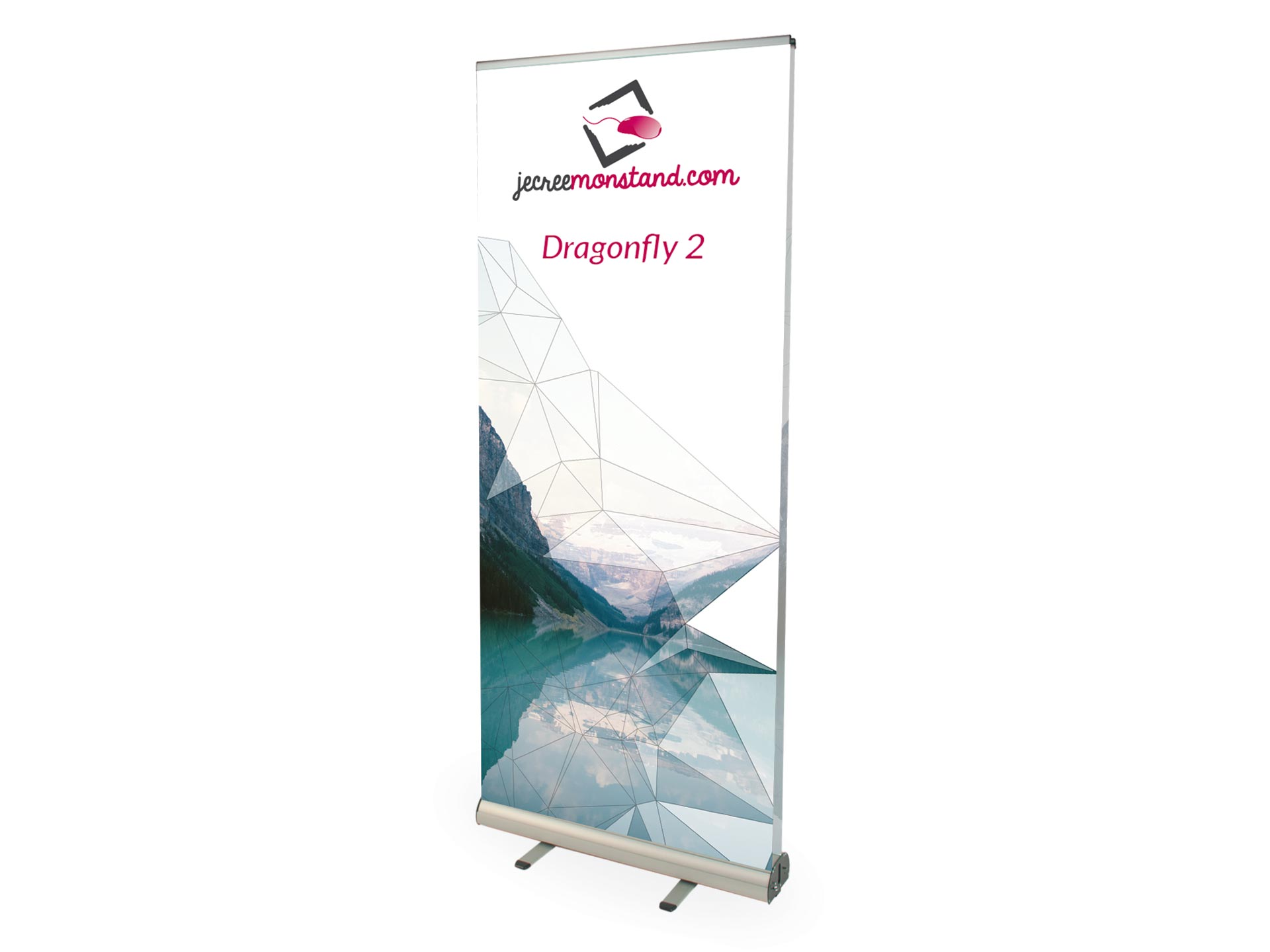 Enrouleur, Roll-up Dragonfly recto-verso pour stand exposant