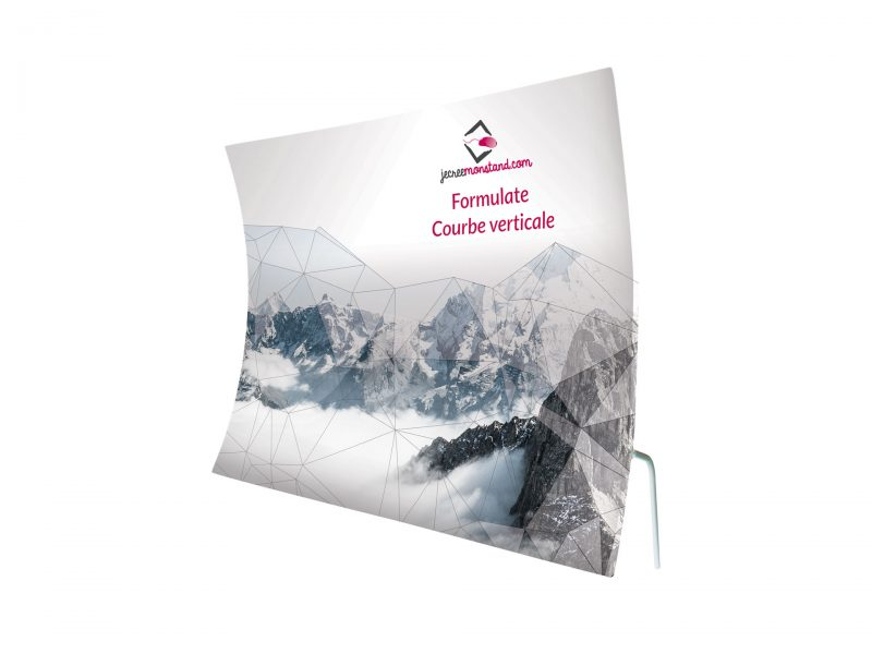 Mur d'image Formulate Courbe Verticale recto-verso pour stand exposant