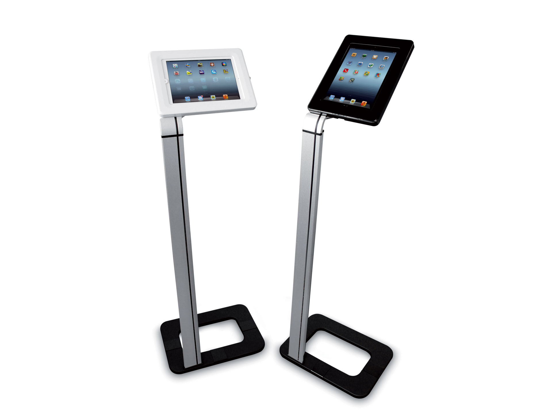 Porte-tablette sur pied pour stand, salons, foires et expositions