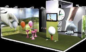Stand modulaire Vector sur mesure 24m2-golf