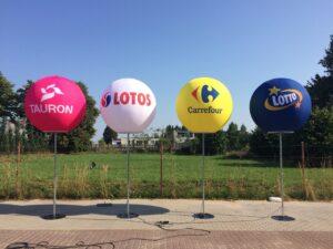 Ballon éco LED pour habillage et décoration de stand