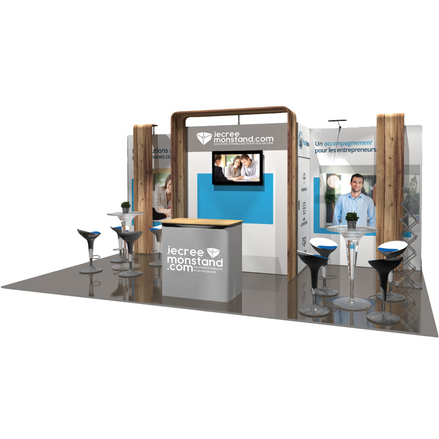 Stands modulaires et modulables pour salons, foires et expositions
