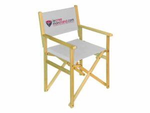 Chaise en bois avec toile 100% personnalisable