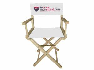 Chaise « Metteur en scène » avec toile 100% personnalisable