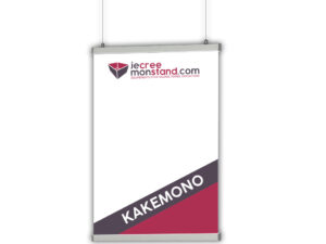 Kakemono suspendu pour stands, foires et expositions
