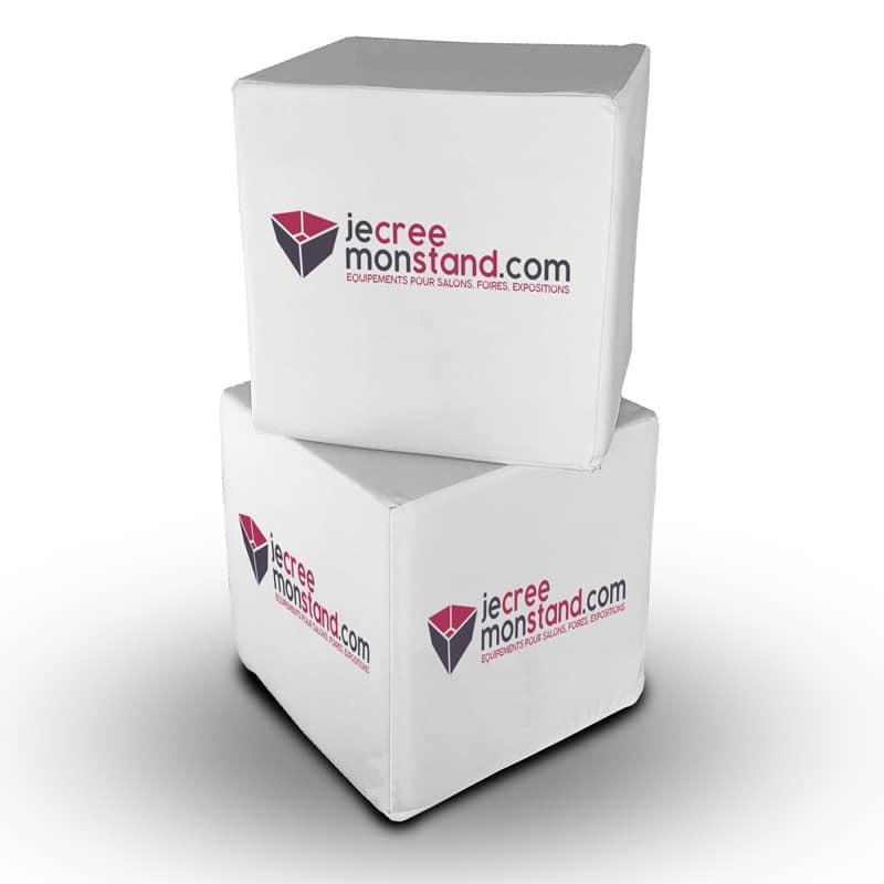 Pouf Cube toile 100% personnalisable