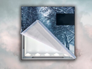 impression de visuels sur mesure pour lightbox Totem rétro éclairé LED