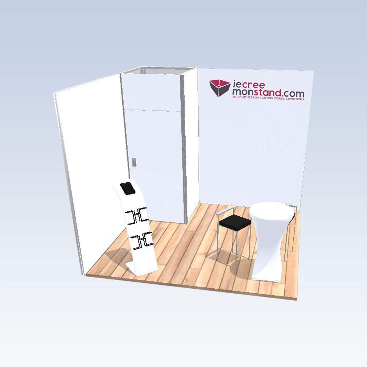 Stand modulaire 9m2 clé en main 2 côtés ouverts